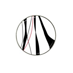 Red, White And Black Elegant Design Hat Clip Ball Marker (10 Pack) by Valentinaart