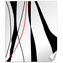 Red, White And Black Elegant Design Canvas 20  X 24   by Valentinaart