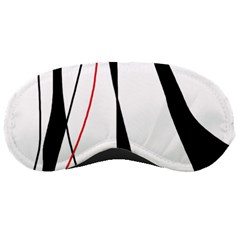 Red, White And Black Elegant Design Sleeping Masks by Valentinaart