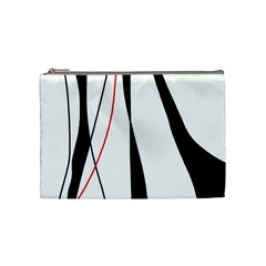 Red, White And Black Elegant Design Cosmetic Bag (medium)  by Valentinaart