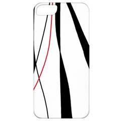 Red, White And Black Elegant Design Apple Iphone 5 Classic Hardshell Case by Valentinaart