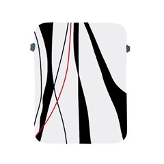 Red, White And Black Elegant Design Apple Ipad 2/3/4 Protective Soft Cases by Valentinaart