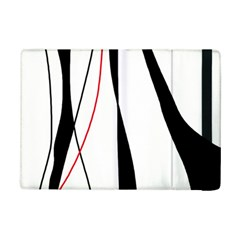 Red, White And Black Elegant Design Ipad Mini 2 Flip Cases by Valentinaart