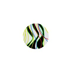 Colorful Lines   Abstract Art 1  Mini Buttons by Valentinaart