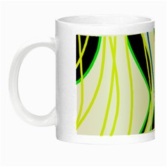 Colorful Lines   Abstract Art Night Luminous Mugs by Valentinaart