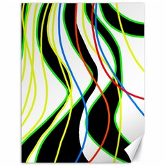 Colorful Lines   Abstract Art Canvas 18  X 24   by Valentinaart