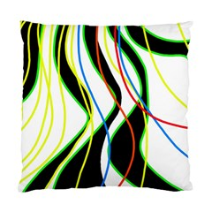 Colorful Lines - Abstract Art Standard Cushion Case (one Side) by Valentinaart