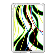 Colorful Lines   Abstract Art Apple Ipad Mini Case (white) by Valentinaart