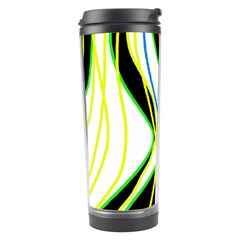 Colorful Lines   Abstract Art Travel Tumbler