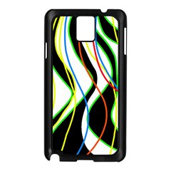 Colorful Lines   Abstract Art Samsung Galaxy Note 3 N9005 Case (black) by Valentinaart