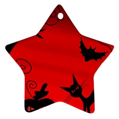 Halloween Landscape Star Ornament (two Sides)  by Valentinaart