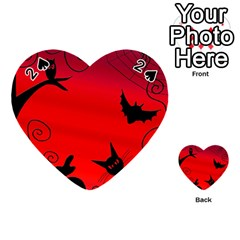 Halloween Landscape Playing Cards 54 (heart)  by Valentinaart