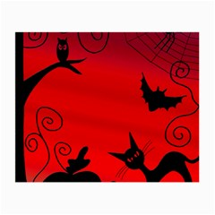 Halloween Landscape Small Glasses Cloth (2 Side) by Valentinaart
