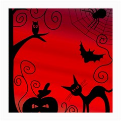 Halloween Landscape Medium Glasses Cloth (2 Side) by Valentinaart