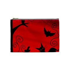 Halloween Landscape Cosmetic Bag (medium)  by Valentinaart