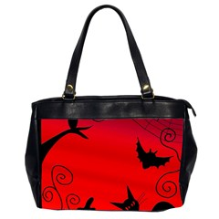 Halloween Landscape Office Handbags (2 Sides)  by Valentinaart