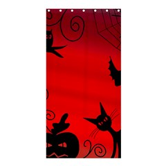 Halloween Landscape Shower Curtain 36  X 72  (stall)  by Valentinaart