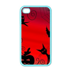 Halloween Landscape Apple Iphone 4 Case (color) by Valentinaart