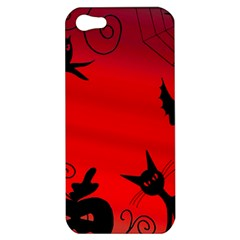 Halloween Landscape Apple Iphone 5 Hardshell Case by Valentinaart