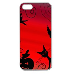 Halloween Landscape Apple Seamless Iphone 5 Case (clear) by Valentinaart
