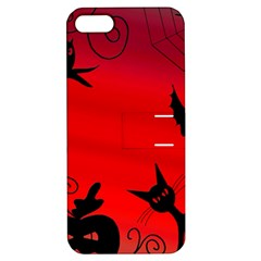 Halloween Landscape Apple Iphone 5 Hardshell Case With Stand by Valentinaart