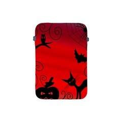 Halloween Landscape Apple Ipad Mini Protective Soft Cases by Valentinaart