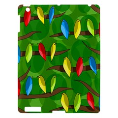 Parrots Flock Apple Ipad 3/4 Hardshell Case by Valentinaart