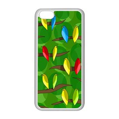 Parrots Flock Apple Iphone 5c Seamless Case (white) by Valentinaart
