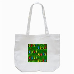 Parrots Flock Tote Bag (white) by Valentinaart