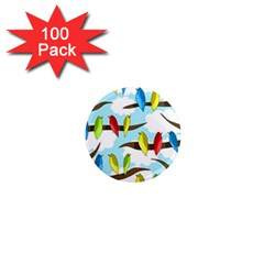 Parrots Flock 1  Mini Magnets (100 Pack)  by Valentinaart
