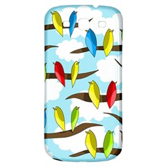Parrots Flock Samsung Galaxy S3 S Iii Classic Hardshell Back Case by Valentinaart