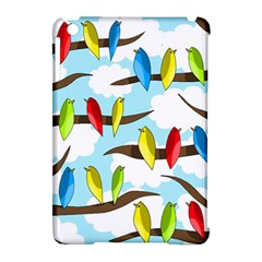 Parrots Flock Apple Ipad Mini Hardshell Case (compatible With Smart Cover) by Valentinaart