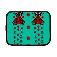 Dancing In Polka Dots Netbook Case (small)  by pepitasart