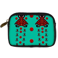 Dancing In Polka Dots Digital Camera Cases by pepitasart