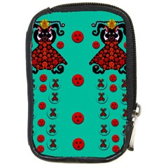 Dancing In Polka Dots Compact Camera Cases by pepitasart