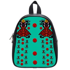 Dancing In Polka Dots School Bags (small)  by pepitasart