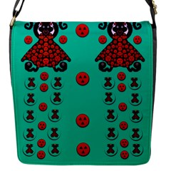 Dancing In Polka Dots Flap Messenger Bag (s) by pepitasart
