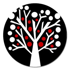 Simply Decorative Tree Magnet 5  (round)