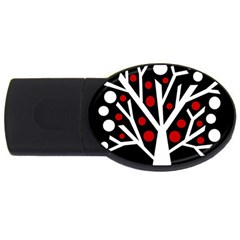 Simply Decorative Tree Usb Flash Drive Oval (4 Gb)  by Valentinaart