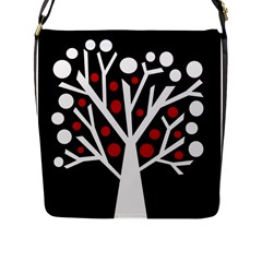 Simply Decorative Tree Flap Messenger Bag (l)  by Valentinaart