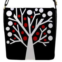 Simply Decorative Tree Flap Messenger Bag (s) by Valentinaart