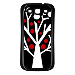 Simply Decorative Tree Samsung Galaxy S3 Back Case (black) by Valentinaart