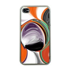 Abstract Orb In Orange, Purple, Green, And Black Apple Iphone 4 Case (clear) by digitaldivadesigns