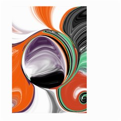 Abstract Orb In Orange, Purple, Green, And Black Large Garden Flag (two Sides) by digitaldivadesigns