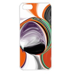 Abstract Orb In Orange, Purple, Green, And Black Apple Iphone 5 Seamless Case (white)
