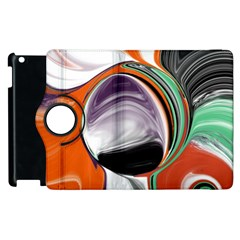 Abstract Orb In Orange, Purple, Green, And Black Apple Ipad 3/4 Flip 360 Case
