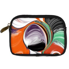 Abstract Orb In Orange, Purple, Green, And Black Digital Camera Cases by digitaldivadesigns