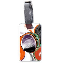 Abstract Orb In Orange, Purple, Green, And Black Luggage Tags (two Sides)