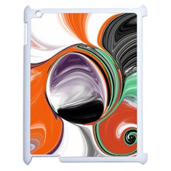 Abstract Orb In Orange, Purple, Green, And Black Apple Ipad 2 Case (white) by digitaldivadesigns