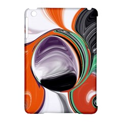 Abstract Orb In Orange, Purple, Green, And Black Apple Ipad Mini Hardshell Case (compatible With Smart Cover) by digitaldivadesigns